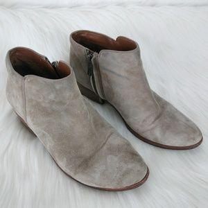 SAM EDELMAN Gray Suede Ankle Boots Sz 7.5